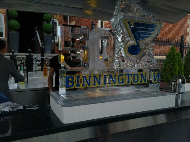 Jordan Binnington Ice Sculpture!