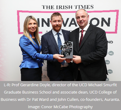 Biotech company Auranta scoops 2019 Irish Times Innovation Award